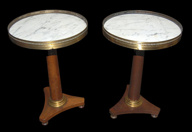 Pair of Petite French Pedestal Tables