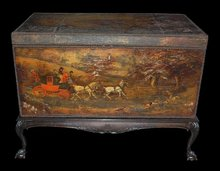 Antique Decoupage Trunk