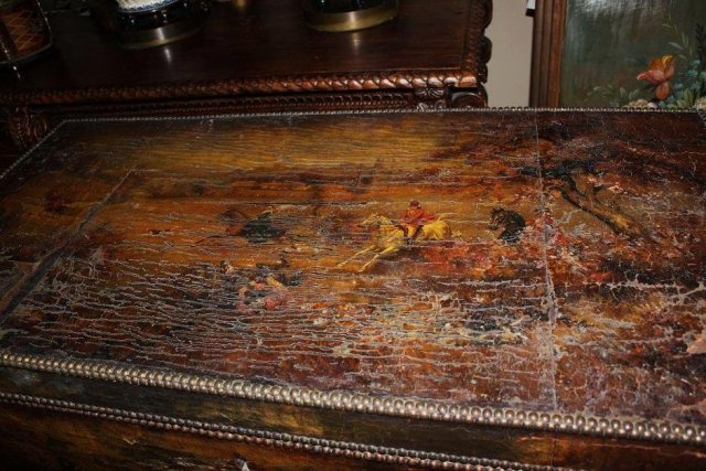 Antique Decoupage Trunk
