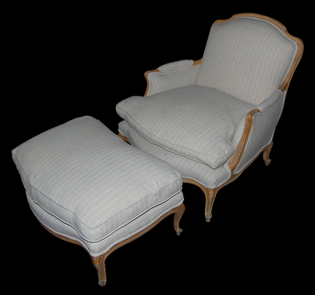 French Armchair & Ottoman