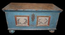 Early Continental Painted Trunk