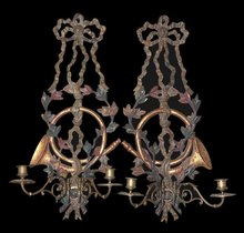 Ornate French Tole Sconce