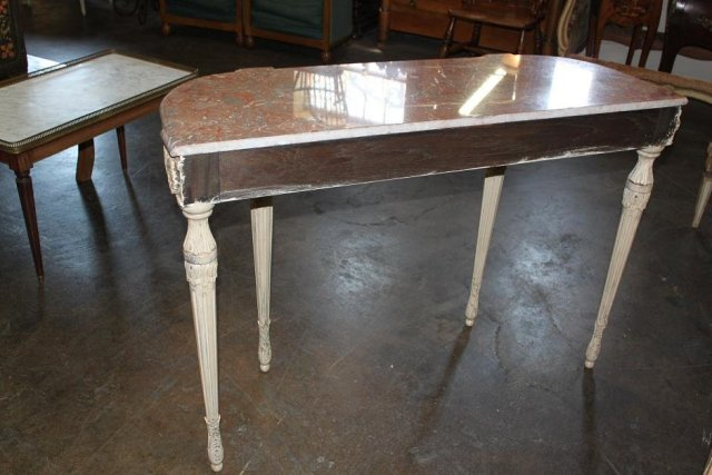 French Painted Louis XVI Console