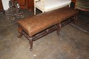 French Leather Bed Bench