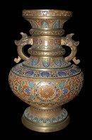 Chinese Cloisonne Bronze Urn