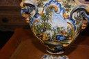 Pair Italian Faience Vases