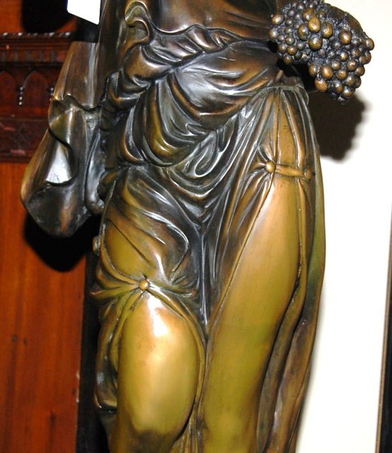Solid Bronze Lady Statue