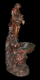 Solid Bronze Lady Fountain