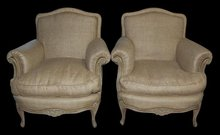 Pair French Bergeres
