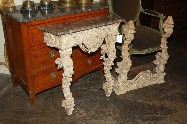 Pair of Italian Lime Wood Consoles