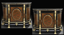 Pair of Napoleon III Boulle-Style Cabinets