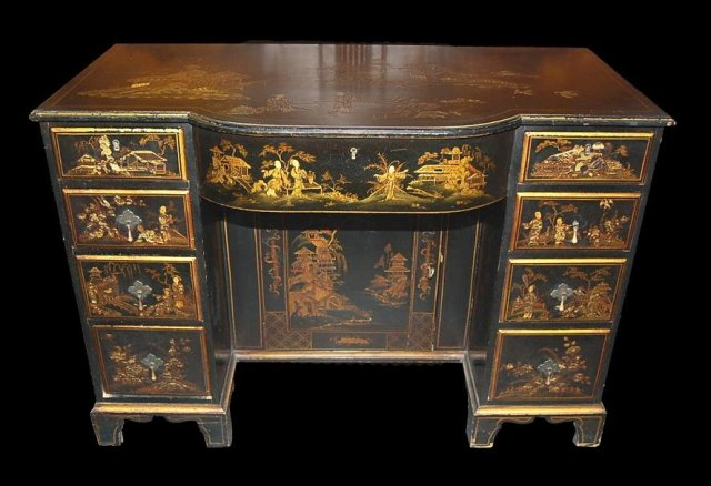 English Chinoiserie Desk