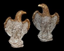 Pair of Continental Stone Eagles