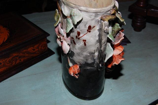 French Barbotine Vase