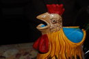 French Majolica Rooster Pitcher