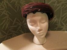 Black Felt Hat with Brown Netting