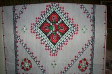 Romanian Folk Art Tablecloth