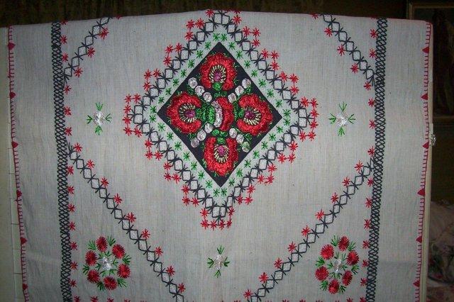 Romanian Folk Art Tablecloth