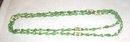 Green Czech Bead Necklace