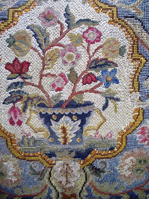 INCREDIBLE 18th / 19th CENTURY NEEDLEPOINT CHAIR