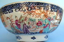 LARGE CHINESE EXPORT PUNCH BOWL 18th C SUPERB