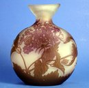 BEAUTIFUL GALLE CAMEO GLASS MOON FLASK 3 COLOR QUALITY