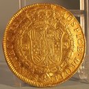 1809 CHILE 8 ESCUDOS GOLD ABOUT UNCIRCULATED