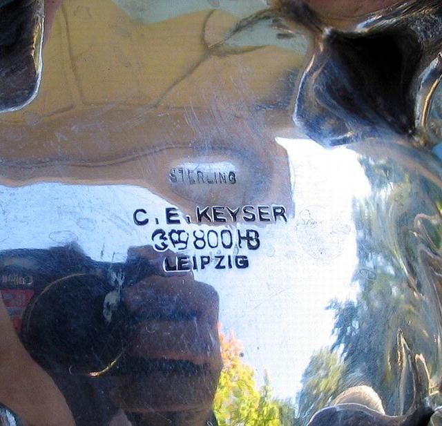 C E KEYSER STERLING TEA SET W/ CREAMER SUGAR HEAVY!