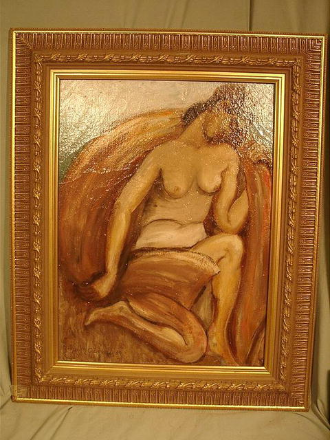 CARROLL, John (1892-1959) WELL LISTED NUDE WOMAN