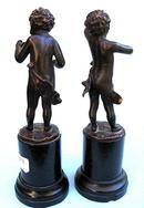 BEAUTIFUL BRONZES PAIR OF CHERUBIM CHILDREN SIGNED