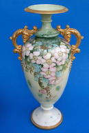 BEAUTIFUL LARGE CAC BELLEEK VASE DATED 1905
