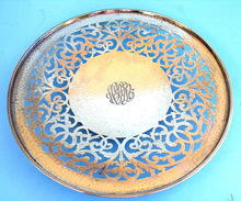 GORHAM STERLING HAND HAMMERED 1914 FILIGREE FOOTED BOWL