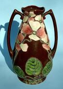 Incredible Amphora Austrian art nouveau 2 handled vase