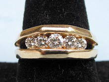 QUALITY 1.25 CARAT DIAMOND RING 14K GOLD CHANNEL SET DIAMOND