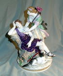 KPM MEISSEN QUALITY 3 FIGURE GROUP SIGNED