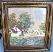 GREGORY HOLLYER WATERCOLOR AND GOUACHE COTTAGE PAINTING