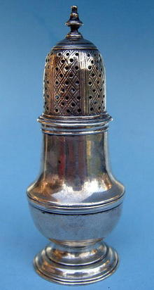 ENGLISH STERLING 1758 JOHN DELMESTER CASTER GEORGE III