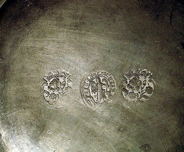 PRINCE CHARLES LOUIS PEWTER PLATE CIRCA 1690