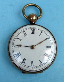 UNUSUAL HAIR POCKET WATCH / LOCKET WITH PICTURE