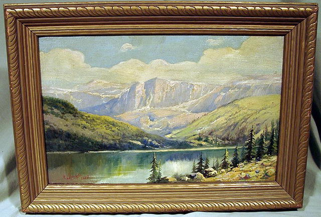 FRANK LEWIS VAN NESS (1866-?) OIL PAINTING CALIFORNIA