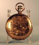 HAMPDEN POCKET WATCH DUEBER 14K CASE FANCY