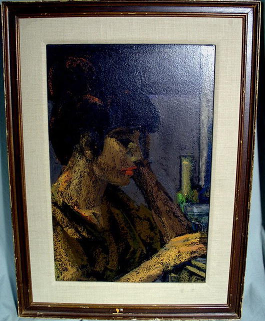 "OIL PAINTING BY MAURICE MANN ""I SAW HER STANDING THERE"""