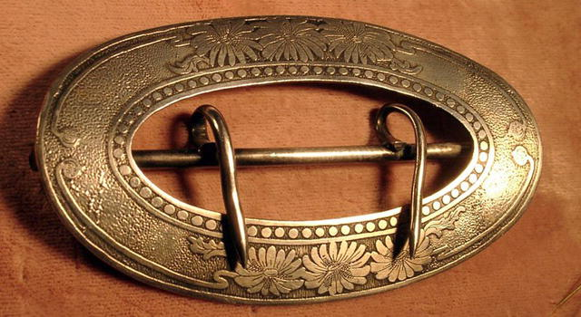 UNGER BROTHERS HUGE BELT BUCKLE STERLING SIGNED NOUVEAU