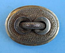 NICE VICTORIAN PIN / BROOCH ETRUSCAN FINISH WITH LOOP
