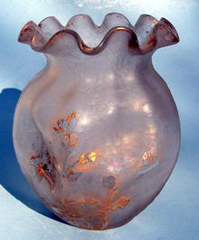 Very fine Cameo Glass vase by St. Denis like Mont Joye