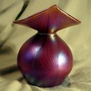 MULLER JACK IN THE PULPIT ART GLASS VASE NICE