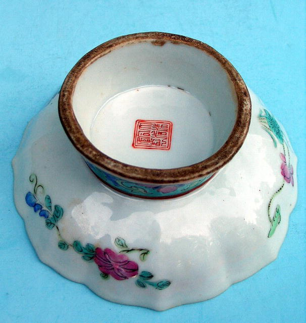 CHINESE TONGHZI TUNG CHI MARK AND PERIOD FOOTED STAND