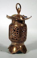 JAPANESE 950 STERLING LANTERN NICE WORK