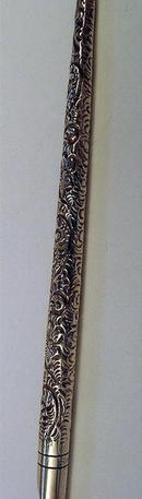 STERLING INK PEN PARKER TYPE REPOUSSE 1900