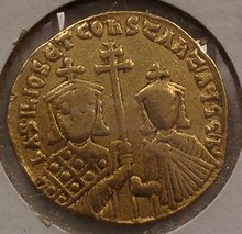 BYZANTINE GOLD SOLIDUS BASIL I CONSTANTINE